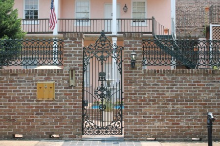 Ornamental ironwork in mobile alabama inside of knoxville for Brick and wrought iron fence designs