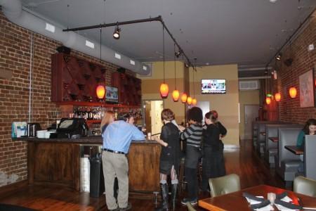 Bar at Downtown Cru Bistro, 141 S. Gay Street, Knoxville, November 2012