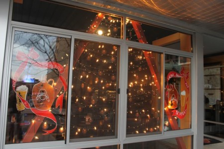 Christmas Window Displays, Casual Pint, Union Avenue, Knoxville, December 2012