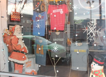 Christmas Window Displays, Nothing Too Fancy, Union Avenue, Knoxville, December 2012