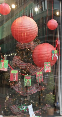 Christmas Window Displays, Rococo, Gay Street, Knoxville, December 2012