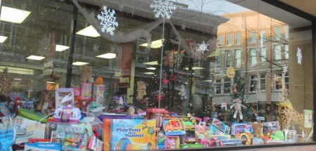 Christmas Window Displays, TVA Credit Union, Wall Avenue, Knoxville, December 2012
