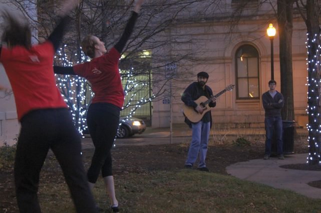 Dancers with Laith Keilany on Guitar, Krutch Park, Knoxville, Fall 2012