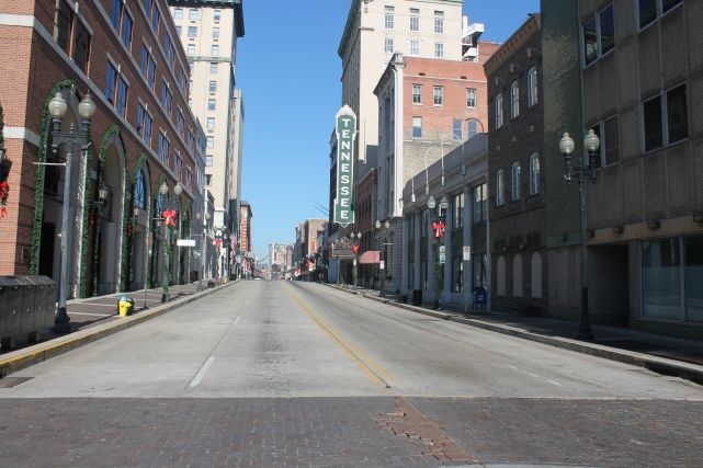Gay Street, Knoxville, Thanksgiving Day 2012