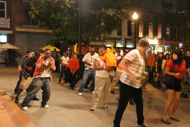 Jarius Bush and Black Atticus Lead a Dance on Market Square at Theorizt Concert, Knoxville, Fall 2012