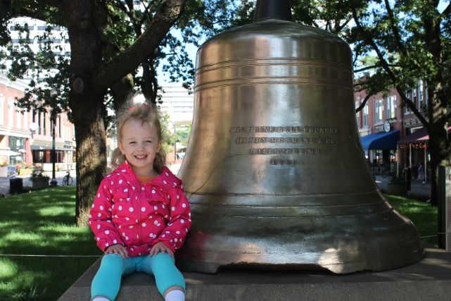 Urban Girl with Bell on Market Square, Knoxville, Fall 2012