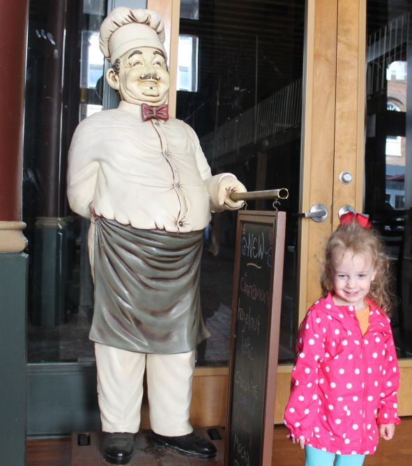 Urban Girl with Chef Guy outside Downtown Grind, Gay Street, Knoxville, Fall 2012