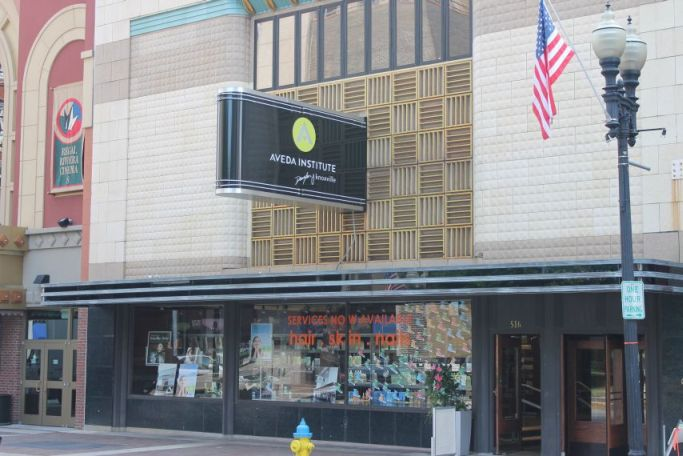 Aveda Institute, Gay Street, Knoxville, Summer 2012
