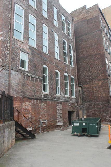 Back side of Rebori Building, 100 Block of Gay Street, Knoxville, December 2012