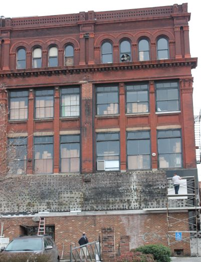 Bacon and Company Building Facade Work, Knoxville, January 2013