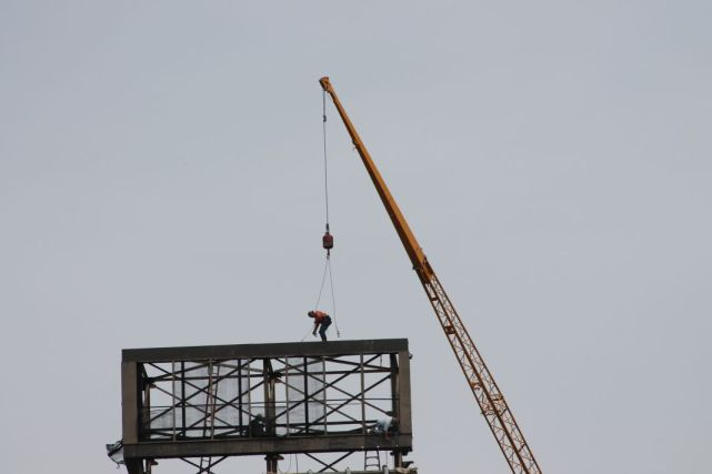 Clock Removal from atop the William F. Conley Building, Knoxville, September 2012