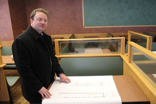 Daniel Odle explains the plans for Tailor Lofts, Gay Street, December 2012