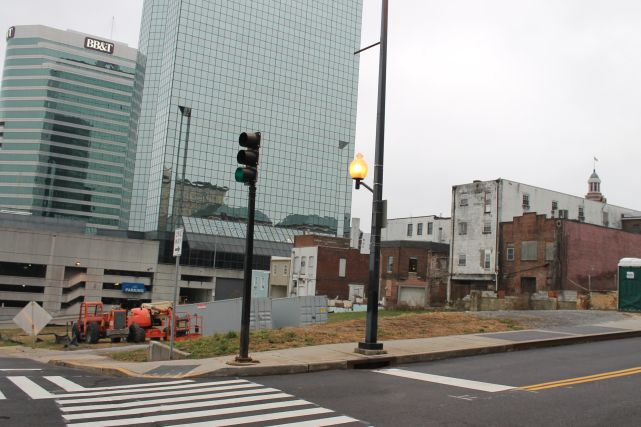 Former Site of the Knoxville News Sentinel, Church Avenue, Knoxville, December 2012