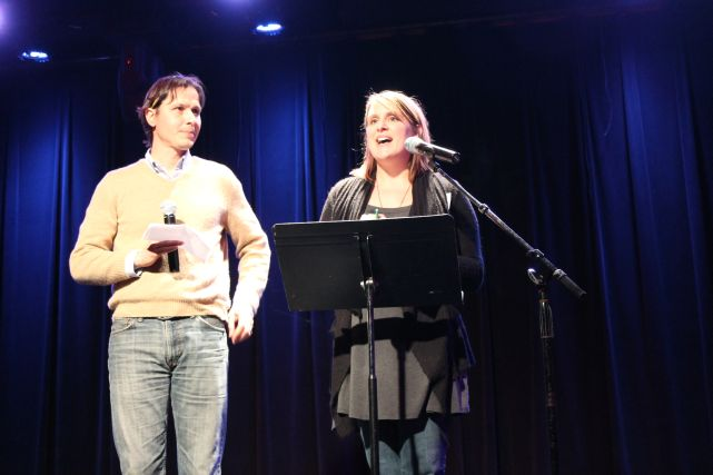Hosts for the Evening, Pecha Kucha Six, Square Room, Knoxville, January 2013