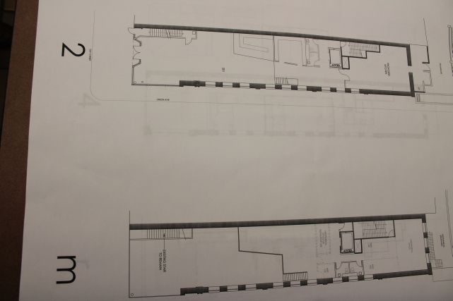 Second Floor Plans for Tailor Lofts, Gay Street, Knoxville, December 2012