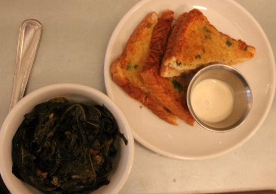 Shrimp Toast and Braised Collard Greens, Knox Mason, Knoxville, January 2013