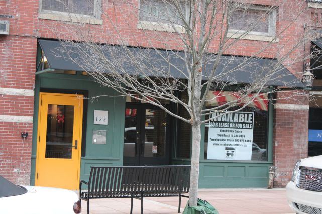 Space for Lease, 100 Block of Gay Street, Knoxville, December 2012