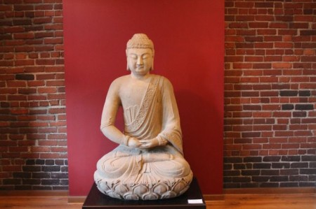 900 pound Buddha waits patiently, Ely Building, Knoxville, February 2013