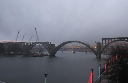 Henley Street Bridge Partially Reconstructed