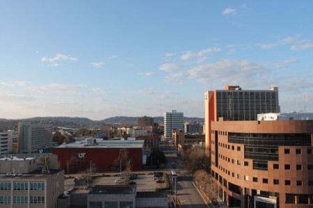 Northern View from the Medical Arts Building, Main Street, Knoxville, February 2013