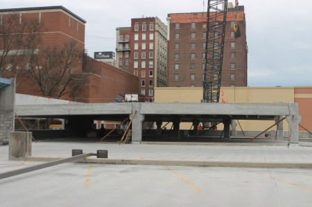 State Street Garage Construction, Knoxville, February 2013