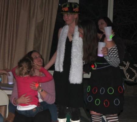 Birthday Girls Stephanie, Whitney and Amanda, Glowtastic Classic Bash, Knoxville, March 2013