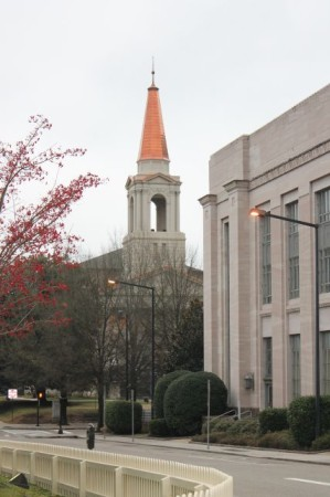 First Baptist Church Steeple, Christmas Day 2012, Knoxville