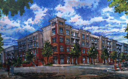 Rendering of the Proposed Marble Alley Lofts, Knoxville, March 2013