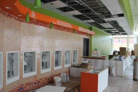 Orange Leaf Frozen Yogurt Construction, 36 Market Square, Knoxville, March 2013
