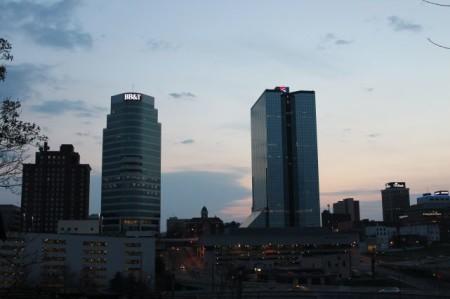 Sundown on Knoxville, March 2013