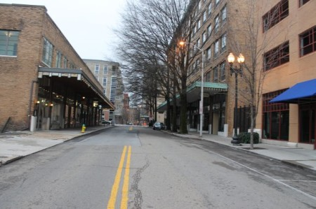 Union Avenue on Christmas Day, Knoxville, December 2012