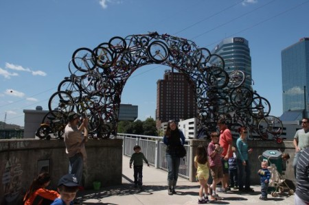 Bicycle Sculpture at Outdoor Knoxville, April 2013