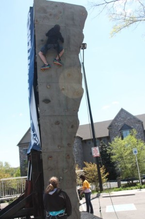 Climbing at Outdoor Knoxfest, April 2013