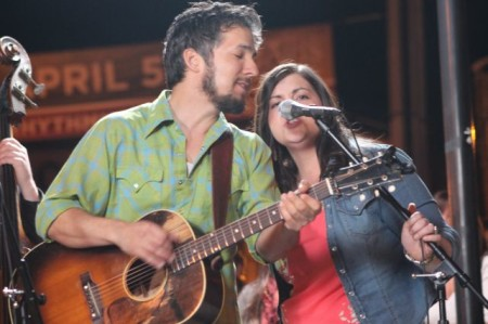 Cruz Contreras and Trisha Gene Brady, Black Lillies CMT Shoot, Old City, Knoxville, April 2013
