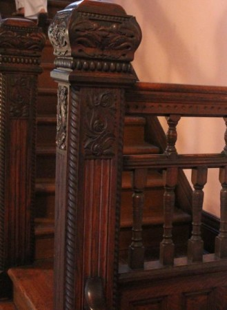 Detail of Grand Stairwell at Historic Westwood, 3425 Kingston Pike, Knoxville, April 2013