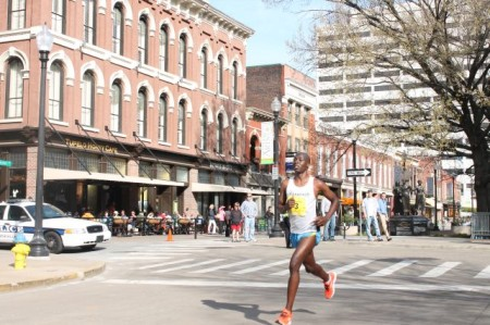 Fifth Place Runner, Mile Twenty-four, Knoxville Marathon, April 2013