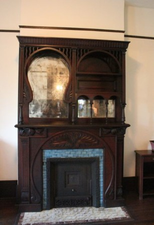 Fireplace at Historic Westwood, 3425 Kingston Pike, Knoxville, April 2013