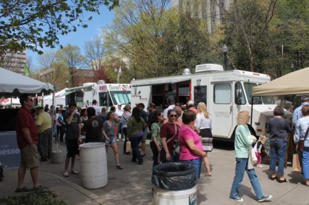 Food Trucks, Market Square Art Fair, Dogwood Arts Festival, Knoxville, April 2013