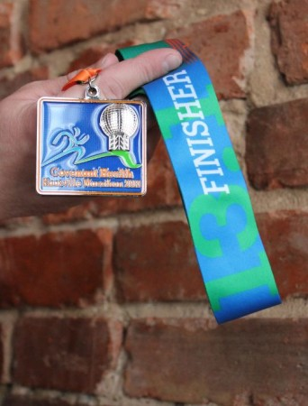 Half-Marathon Medal, Knoxville Marathon, April 2013