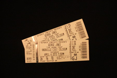 George Jones Tickets, Final Concert