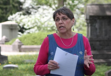 Kathy Kodra, Poetry in Old Gray, Old Gray Cemetery, Knoxville, April 2013
