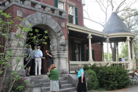Kim Trent Greets Guests at Historic Westwood, 3425 Kingston Pike, Knoxville, April 2013
