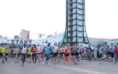 Knoxville Marathon Start, April 2013
