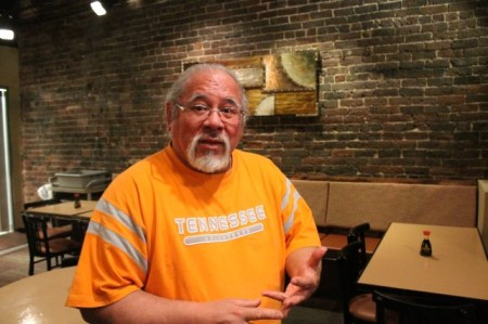 Owner Willy Rosenberg, Shonos in City, Market Square, Knoxville, April 2013