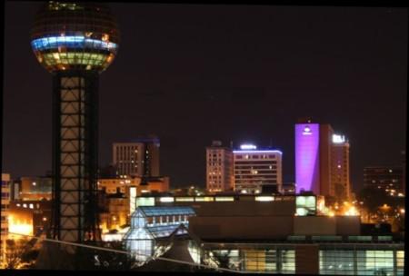 Night Skyline, Knoxville, April 2013