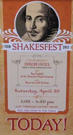 Shakesfest, Knoxville, East Tennessee History Center, Knoxville, April 2013