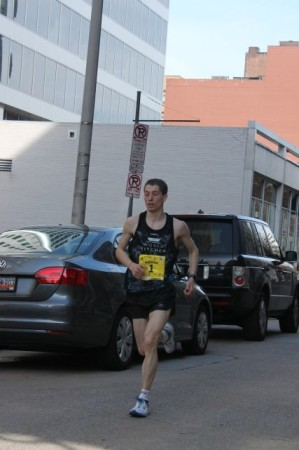 Third Place Runner, Mile Twenty-four, Knoxville Marathon, April 2013
