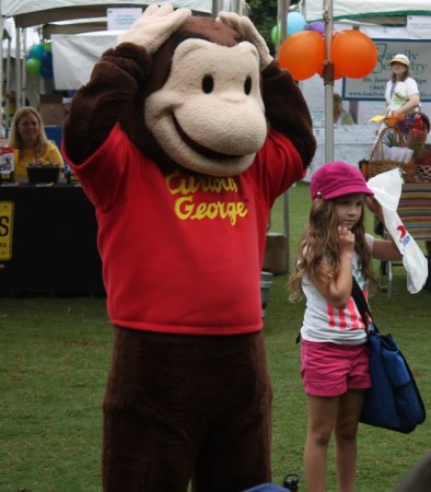 Curious George, Children's Festival of Reading, Knoxville, May 2013