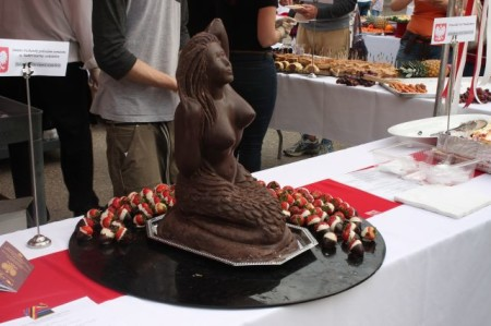 Chocolate Mermaid, Polish Festival, Market Square, Knoxville, May First Friday 2013
