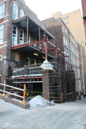 Construction on the Rear of the Rebori Building, Knoxville, May 2013